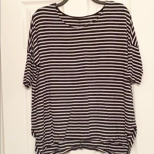 Black and white striped boxy top